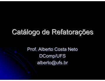Catálogo de Refatorações - UFS
