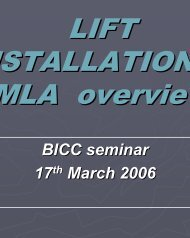 Lift Installation by MLA