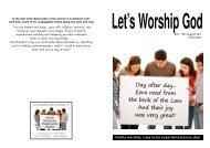 Let's Worship God - Airdrie Reformed Presbyterian Church