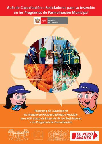 Guía de Capacitación a Recicladores - CDAM - Ministerio del ...