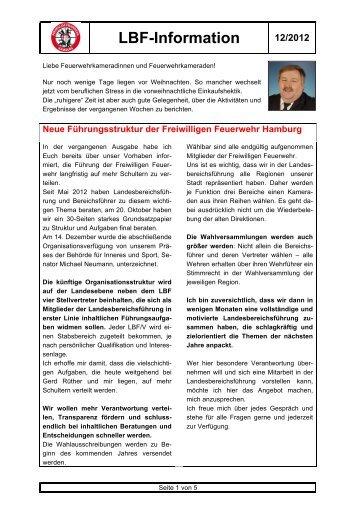 LBF-Information 12/2012 - Freiwillige Feuerwehr Hamburg