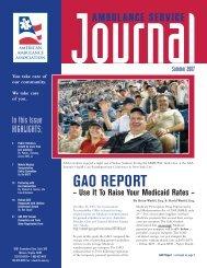 GAO REPORT - American Ambulance Association