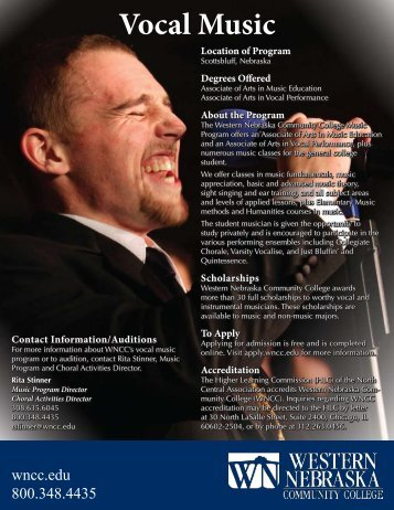 View Vocal Music Brochure