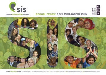 Annual Review April 2011 - March 2012 - Sussex Interpreting Services