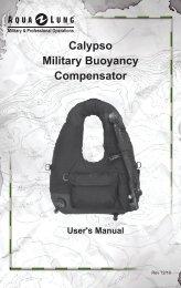 Calypso Military Buoyancy Compensator User's Manual - Aqua Lung