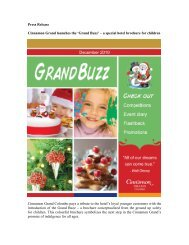 'Grand Buzz' - a special - Cinnamon Hotels & Resorts