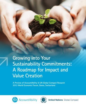 Growing into Your Sustainability Commitments: A ... - AccountAbility