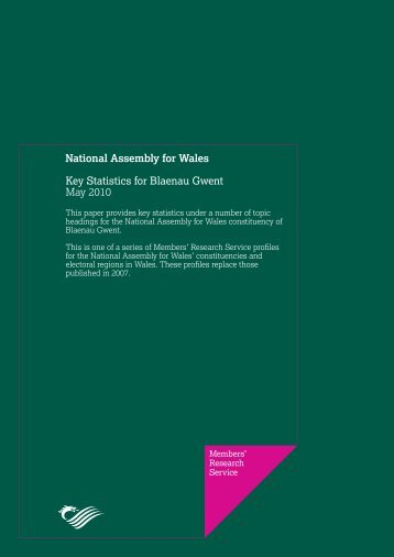 Key Statistics for Blaenau Gwent - National Assembly for Wales