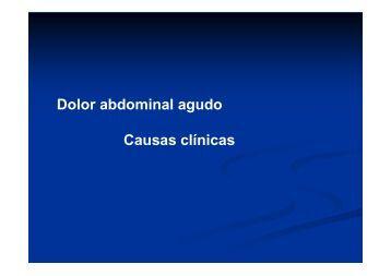 Dolor abdominal agudo Causas clínicas