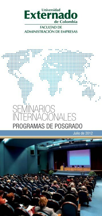 seminarios internacionales - Universidad Externado de Colombia