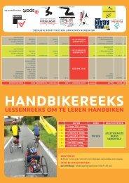 handbikereeks lessenreeks om te leren handbiken - G-sport