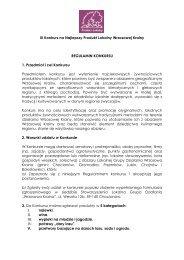 regulamin konkursu - Przemków