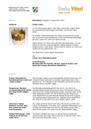 Newsletter Ausgabe 3, September 2010 Editorial ... - Starke Väter