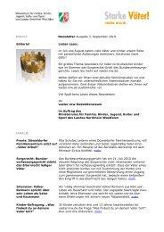 Newsletter Ausgabe 3, September 2010 Editorial ... - Starke Väter