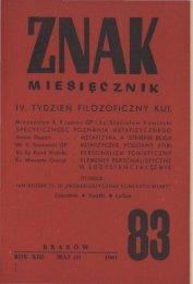 Nr 83, maj 1961 - Znak