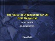 The Value of Dispersants for Oil Spill Response - U.S. National ...