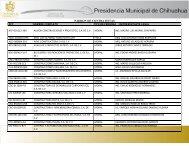Directorio de Contratistas del Municipio de Chihuahua