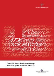 The CEE Stock Exchange Group and its Capital Markets 2011/12