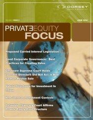 Download Newsletter PDF - Dorsey & Whitney LLP