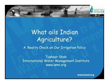 What ails Indian Agriculture? - icrier