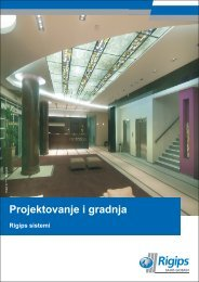 Projektovanje i gradnja - Rigips sistemi