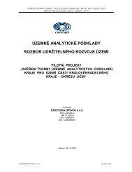 3. Rozbor trvale udržitelného rozvoje území - Královéhradecký kraj
