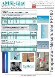 Temperatur-Messfühler Pt-100 - AMSI Glas AG, Glasapparate, Labor