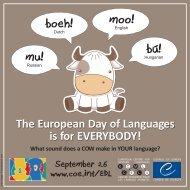 mu! bú! boeh! moo! - European Day of Languages