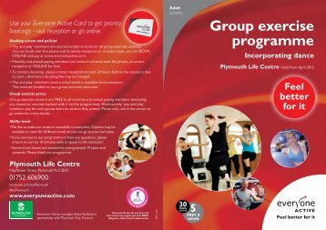 Group exercise programme - Everyone Active