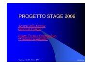PROGETTO STAGE 2006Foligno - Agenzia delle Entrate