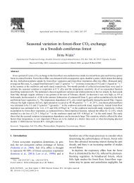 Seasonal variation in forest-floor CO2 exchange in a Swedish ...