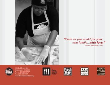 """""""Cook as you would for your own family...with love."""" - DC Central ..."""
