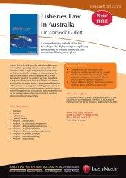 Fisheries Law in Australia - LexisNexis