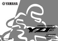 OWNER'S MANUAL YZF600RP YZF600RPC - Yamaha