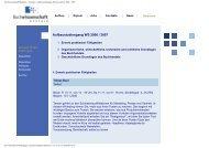 Aufbaustudiengang Wintersemester 2006 / 2007 - Buchwissenschaft