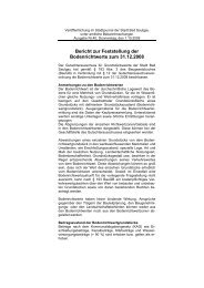 Bericht zur Feststellung der Bodenrichtwerte zum 31.12.2008