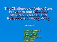 The Challenge of Aging Care Providers and Disabled Children in ...