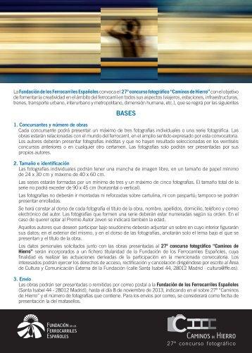 Bases - Fundación de los Ferrocarriles Españoles