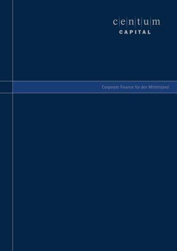 Corporate Finance für den Mittelstand - CENTUM CAPITAL