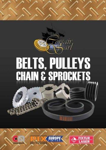 Corsair sarl Belts, Pulleys, Chain & sProCkets - Corsairsarl.com