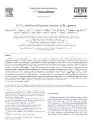SINEs, evolution and genome structure in the opossum - David Pollock