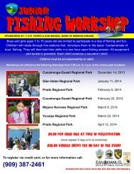 Want to fish, but don't know how? - San Bernardino County