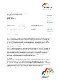 Brief MBO Raad aan Vaste Kamercommissie Onderwijs over ...
