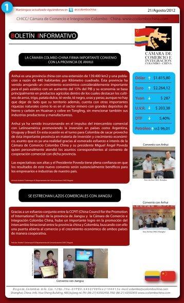 boletín informativo - Cámara de comercio e integración Colombo ...