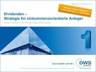 Dividenden – Strategie für einkommensorientierte ... - RRB Mödling
