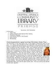 Friends Newsletter Nov 2012.pdf - Dripping Springs Community ...