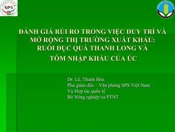 đánh giá rủi ro trong việc duy trì và mở rộng thị ... - SPS Việt Nam