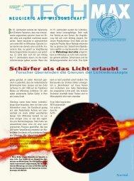 Schärfer als das Licht erlaubt – - Max-Wissen