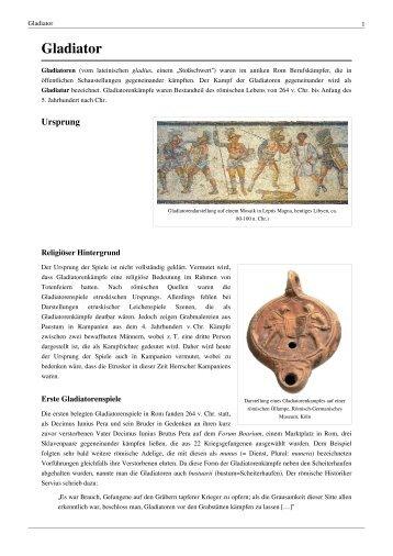 Gladiator Gladiatoren - GFJ-Hosting.de
