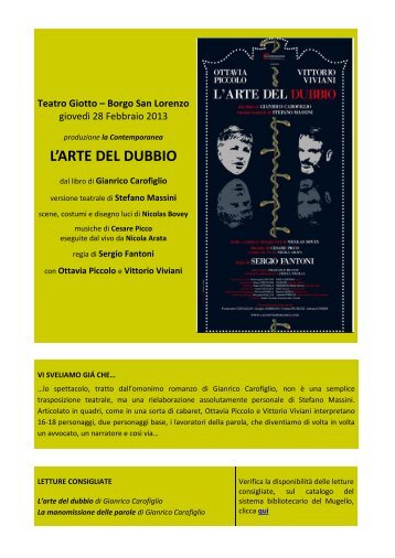L'ARTE DEL DUBBIO - Comune di Borgo San Lorenzo